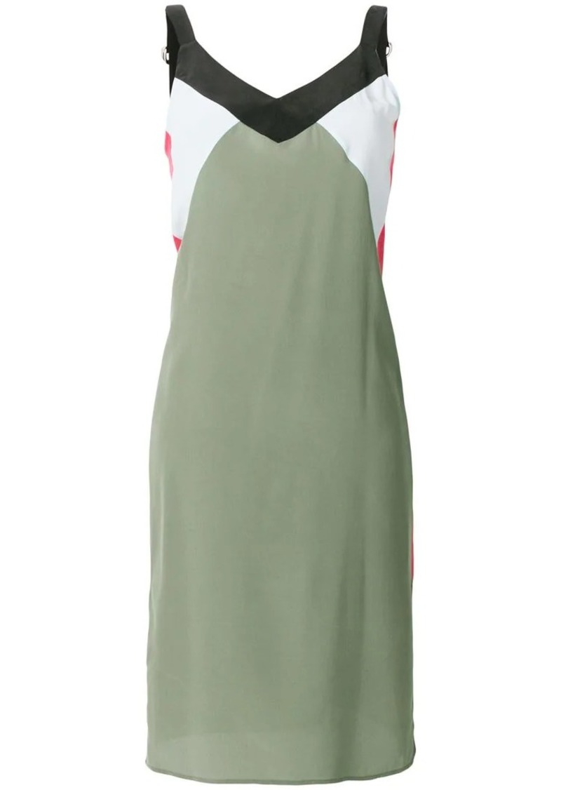 Equipment colour-block fitted dress