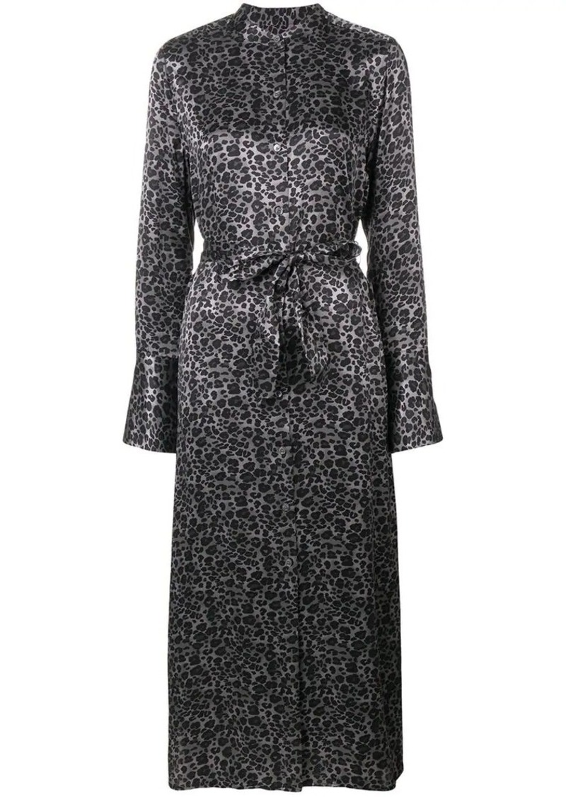 Equipment Connell leopard-print maxi dress