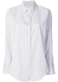 Equipment contrast striped shirt