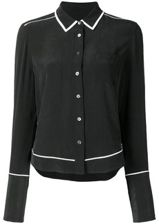 Equipment contrast-trim long sleeve shirt