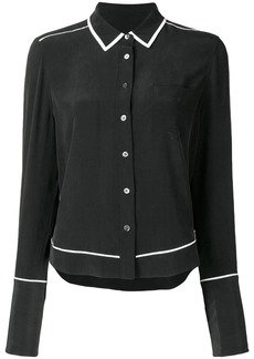 Equipment contrast-trim long sleeve shirt