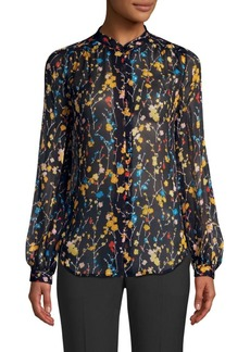Equipment Cornelia Floral Silk Blouse
