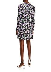 Equipment Danette Long-Sleeve Silk Dress