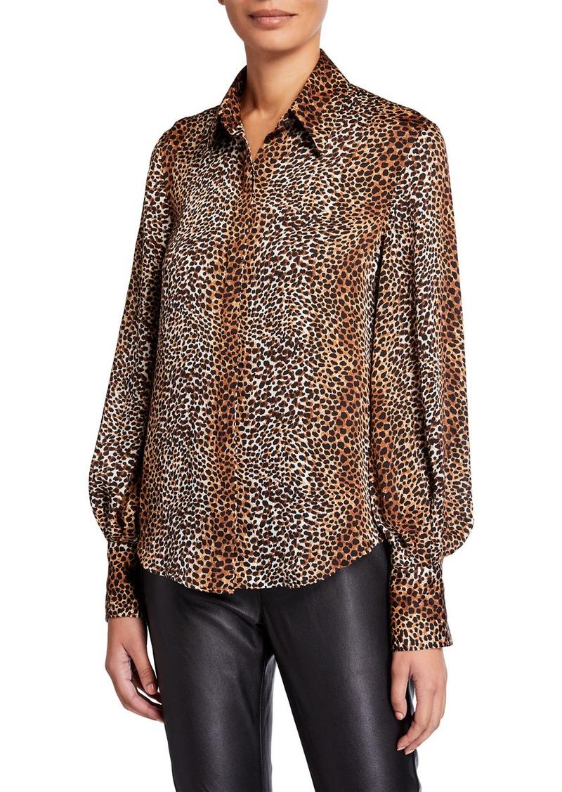Equipment Didina Animal Bishop-Sleeve Button-Down Shirt