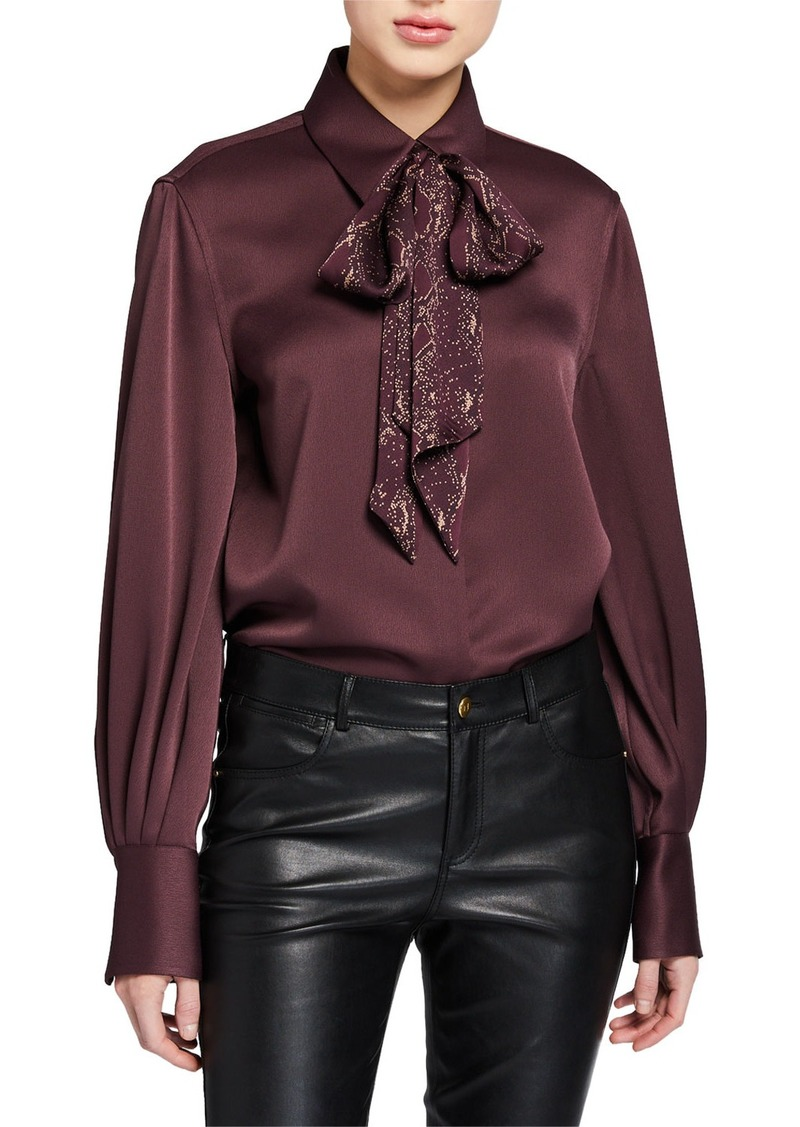 Equipment Didina Button-Down Blouse with Scarf