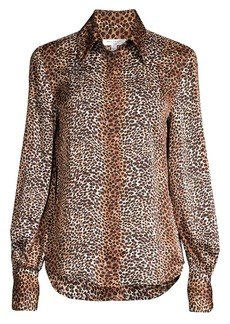Equipment Didina Leopard-Print Blouse