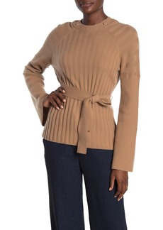 Equipment Doise Waist Tie Wool Blend Sweater