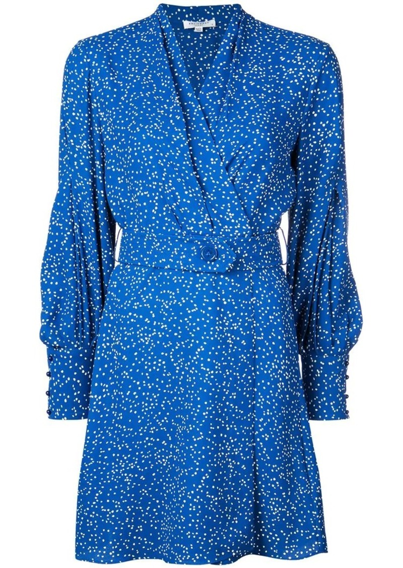Equipment dotted belted dress