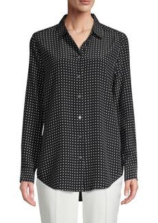 Equipment Dotted Silk Button-Down Shirt