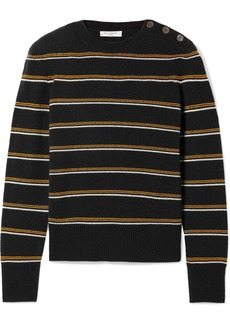 Equipment Duru Striped Wool And Cashmere-blend Sweater