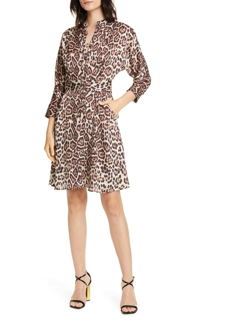 Equipment Adalicia Long Sleeve Front Button Dress