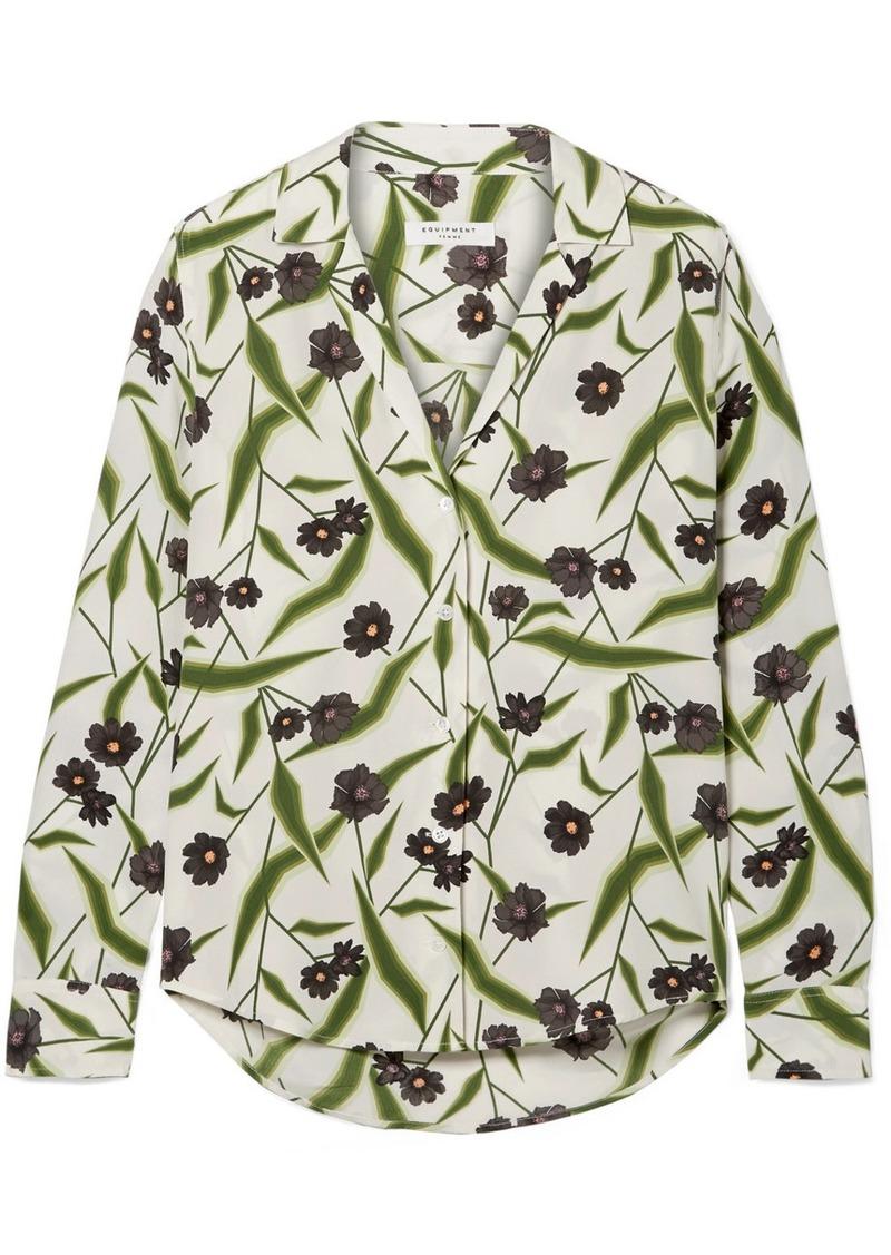 c7942762adbbbe Equipment Adalyn Floral-print Washed-silk Shirt
