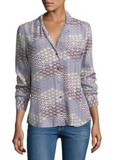 Equipment Adalyn Long-Sleeve Silk Blouse