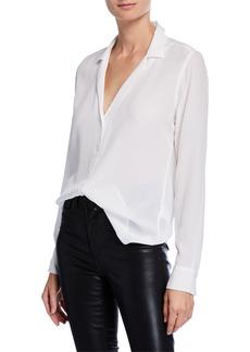Equipment Adalyn Silk Long-Sleeve Blouse