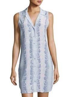 Equipment Adalyn Snake-Print Silk Dress