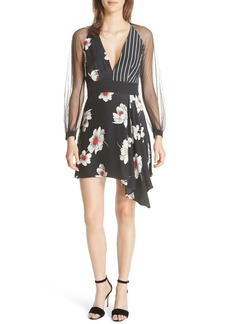 Equipment Alexandria Mixed Print Silk Dress