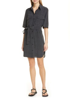 Equipment Amadee Gap Stripe Silk Shirtdress