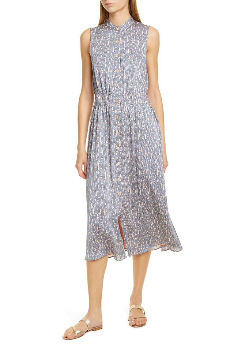Equipment Andrinna Print Button Front Midi Dress