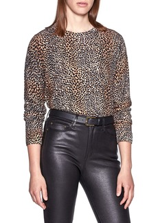Equipment Animal Print Wool Sweater