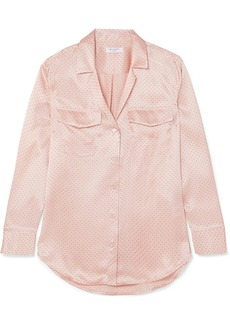 Equipment Ansley Polka-dot Silk-satin Shirt