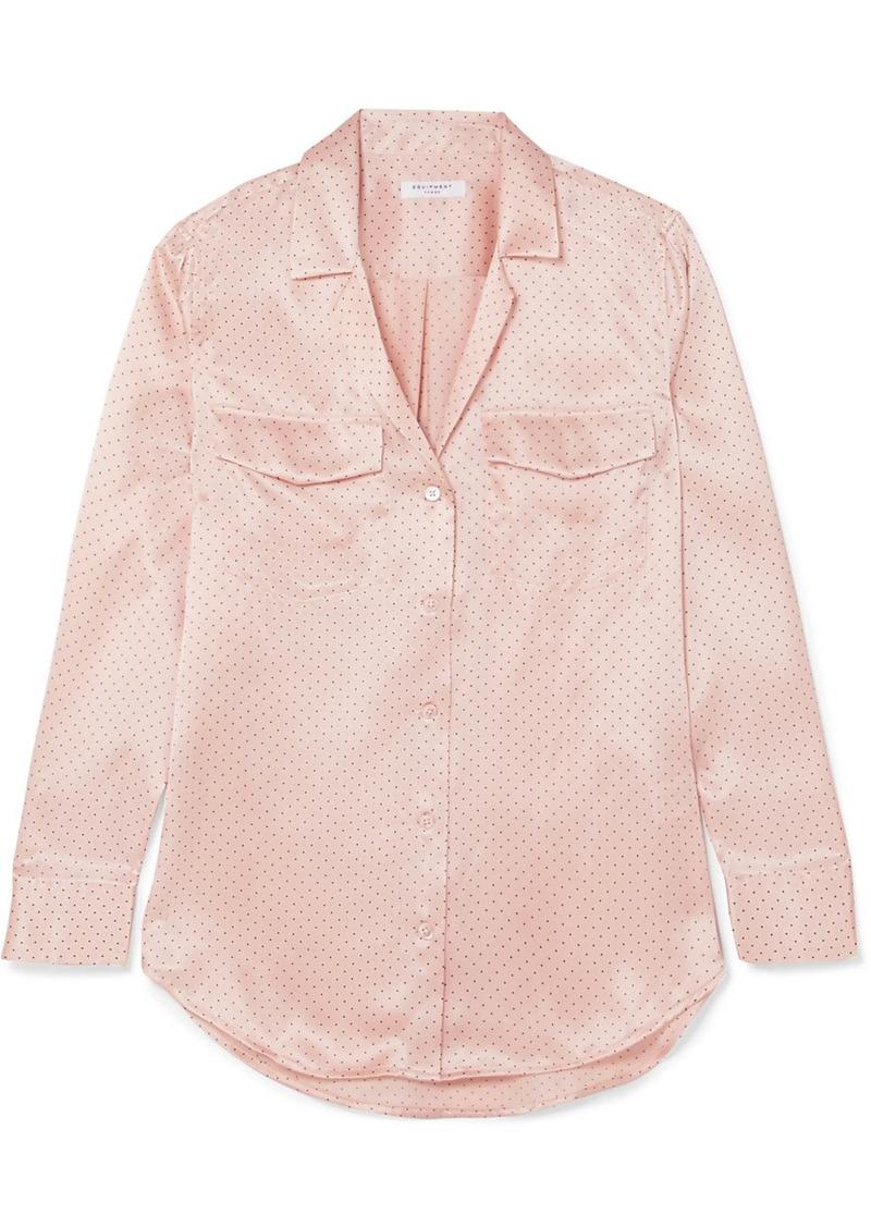 502e2942d2ba3 SALE! Equipment Ansley Polka-dot Silk-satin Shirt