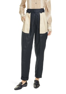 Equipment Asila Colorblock Linen Pants