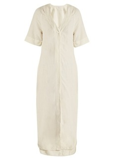 Equipment Atyley V-neck silk-blend dress