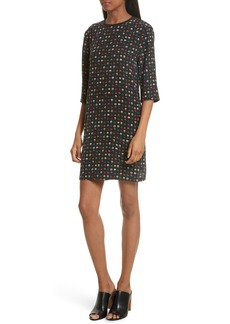 Equipment Aubrey Floral Silk Shift Dress
