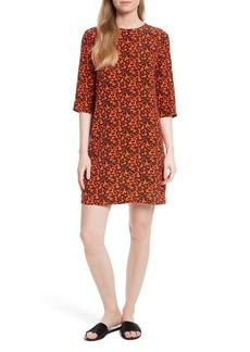 Equipment Aubrey Print Silk Shift Dress
