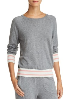 Equipment Axel Striped-Trim Sweater