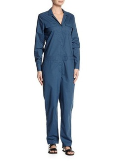 Equipment Blaise Long-Sleeve Cotton Jumpsuit