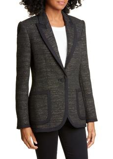 Equipment Bodanne Contrast Detail Tweed Jacket