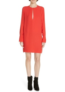 Equipment Bonnie Split Neck Shift Dress