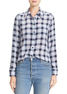 Equipment Brett Plaid Silk Shirt