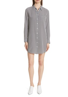 Equipment Brett Stripe Silk Shirtdress