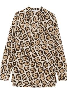 Equipment Bristol leopard-print silk blouse