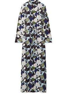 Equipment Britten Floral-print Silk Crepe De Chine Maxi Dress