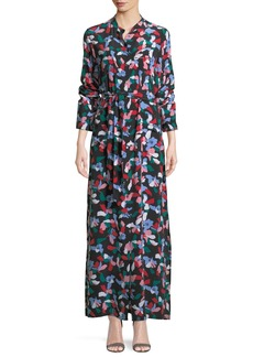 Equipment Britten Floral-Print Silk Maxi Dress
