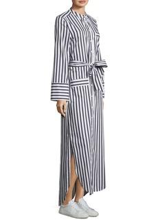 Equipment Britten Striped Maxi Shirt Dress