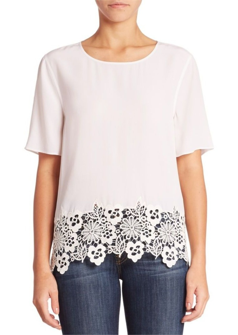 Equipment Brynne Lace Silk Top