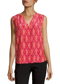 Joie Button-Front Raw Silk Blouse