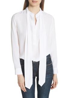 Equipment Carleen Tie Neck Silk Blouse