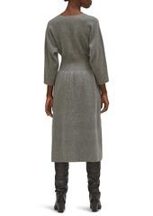 Equipment Channing V-Neck Midi Dress