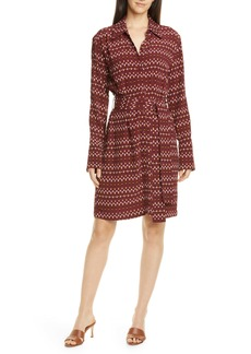 Equipment Chansette Long Sleeve Print Shirtdress