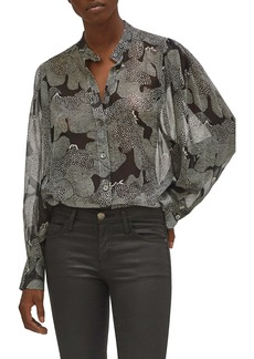 Equipment Chayce Abstract Silk Blouse