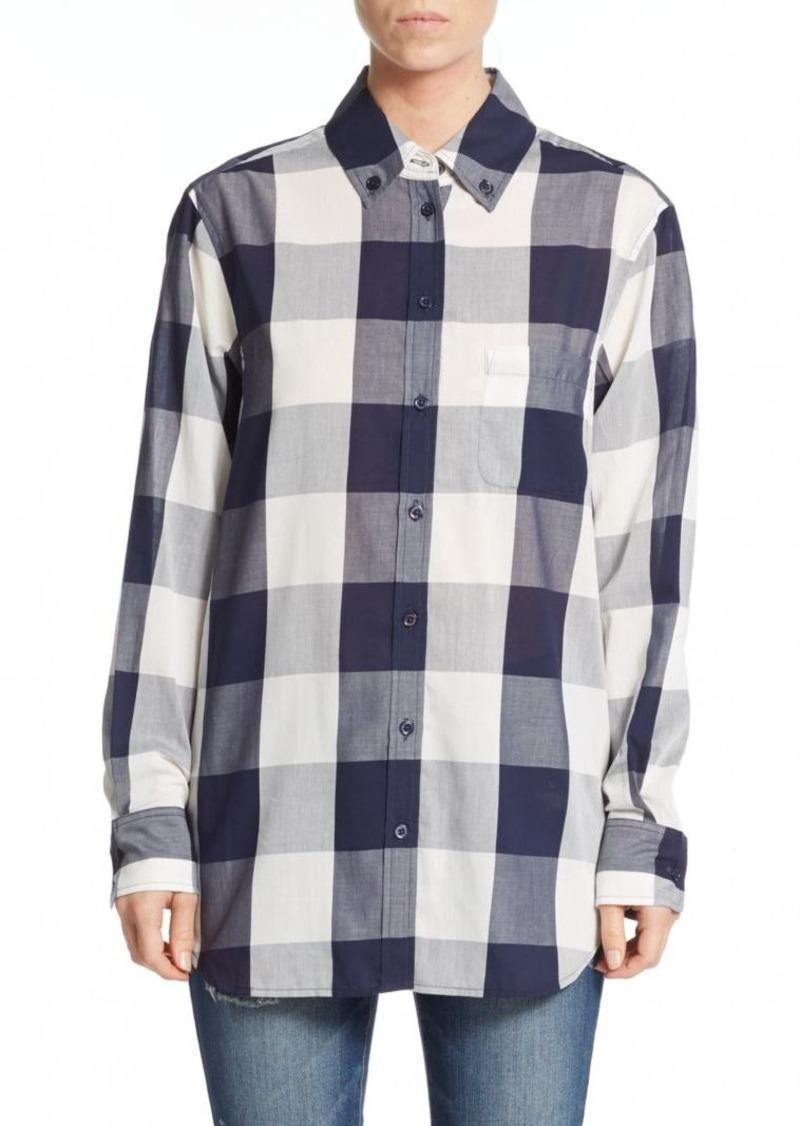 Equipment Checked Cotton Long Sleeve Shirt