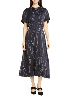 Equipment Chemelle Silk Blend Midi Dress