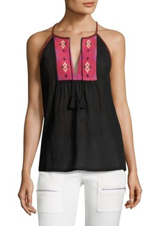 Equipment Clea Embroidered Cotton Gauze Tank Top