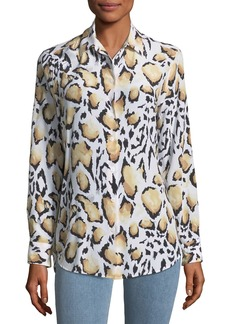 Equipment Cloud Leopard-Print Button-Down Essential Shirt