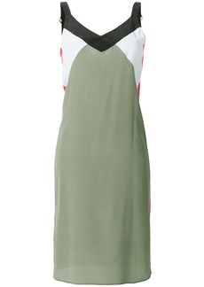 Equipment colour-block fitted dress - Green